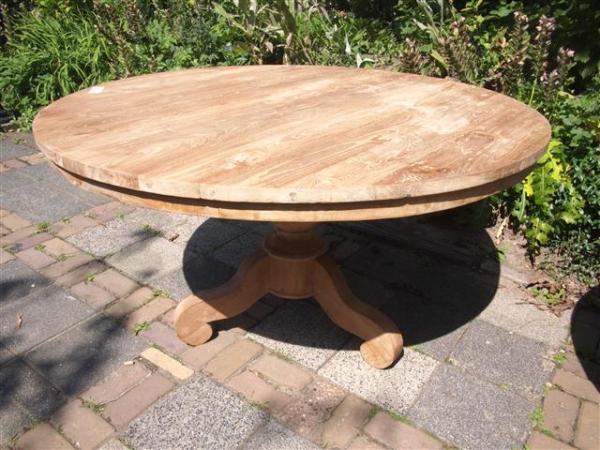 Ronde teak tafel 140cm teakmeubelen.com