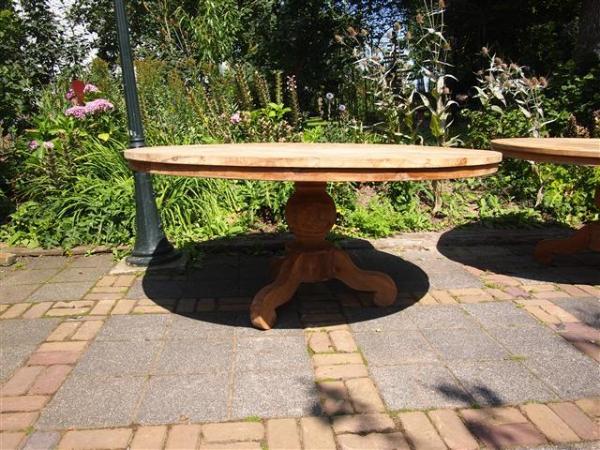 Ronde teak tafel for Teakhouten tafel