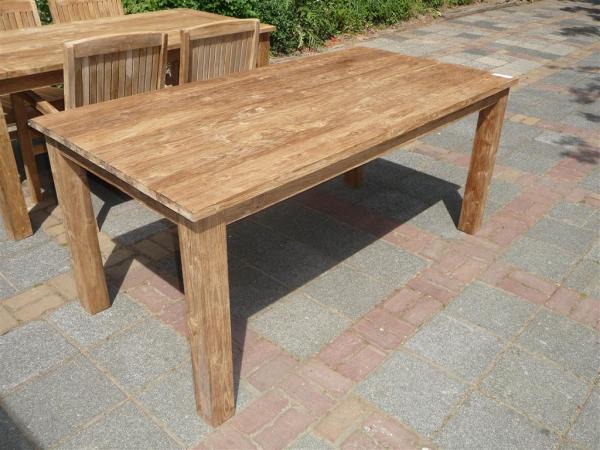 Teak tafel geborsteld 180x90 for Teakhouten tafel