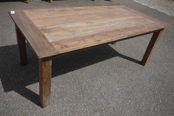 Teak tafel oud hout 200x100 for Teakhouten tafel