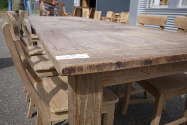 Teak tafel oud hout 300x100 for Teakhouten tafel